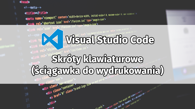 Visual Studio Code Lista Skrótów Klawiaturowych Do Wydrukowania