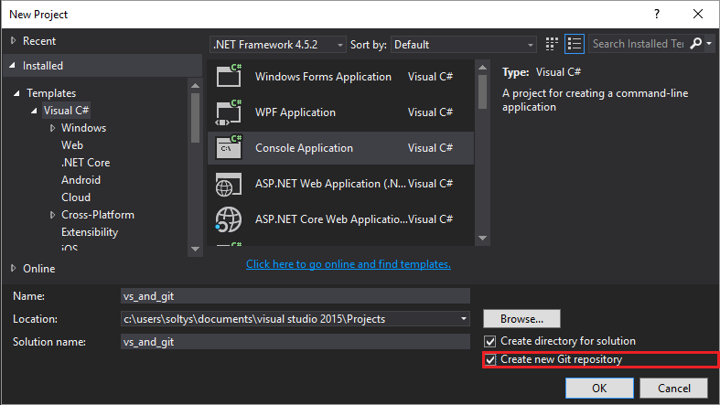 Visual Studio and git  Build-in tooling  – Soltys Blog